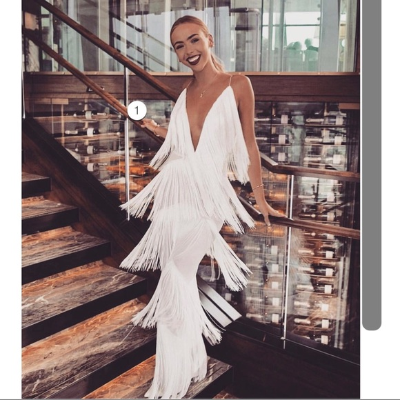 first look detailed look retail prices Meshki Pants | Fringe White Jumpsuit | Poshmark
